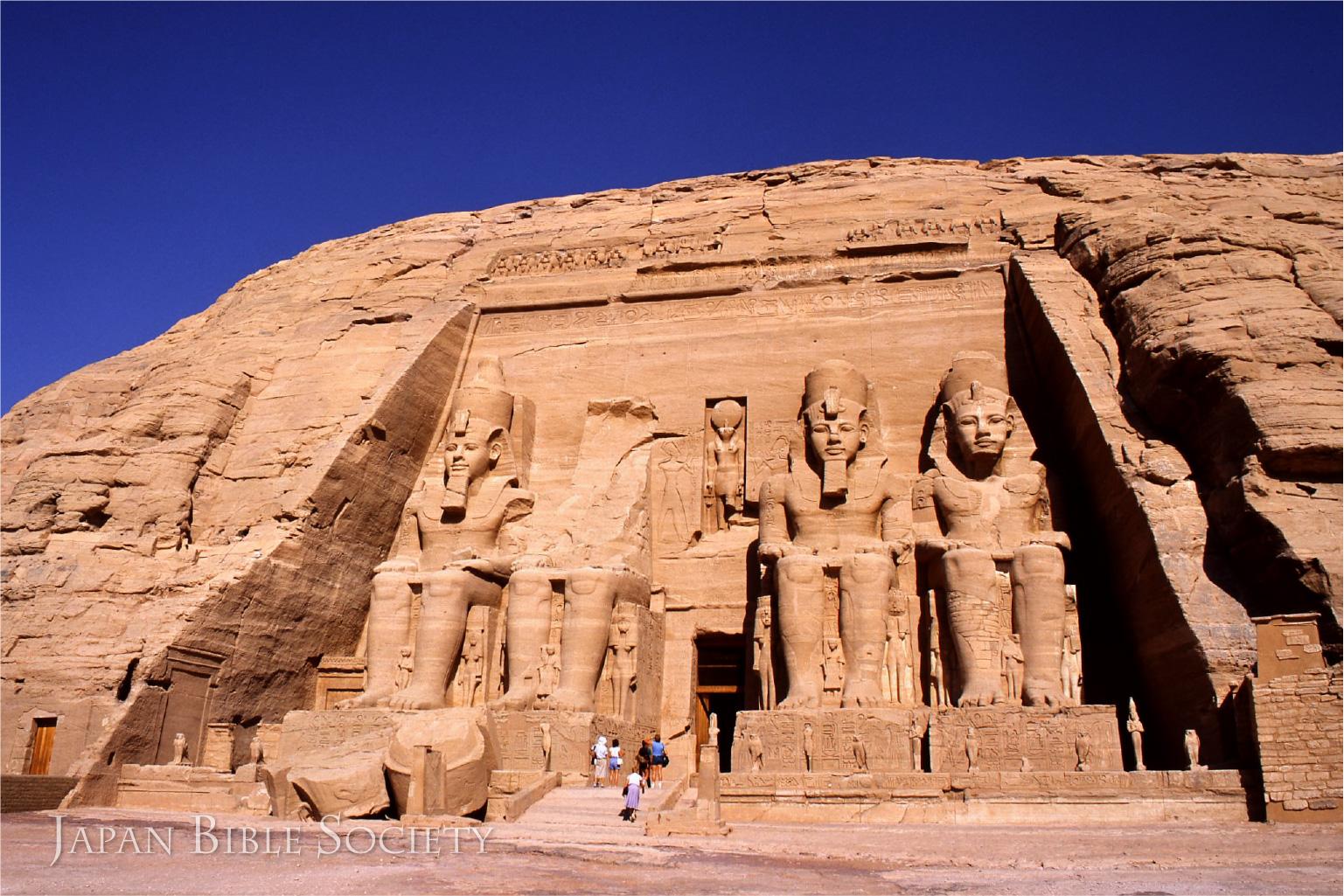 アブ・シンベル大神殿のラムセス2世像