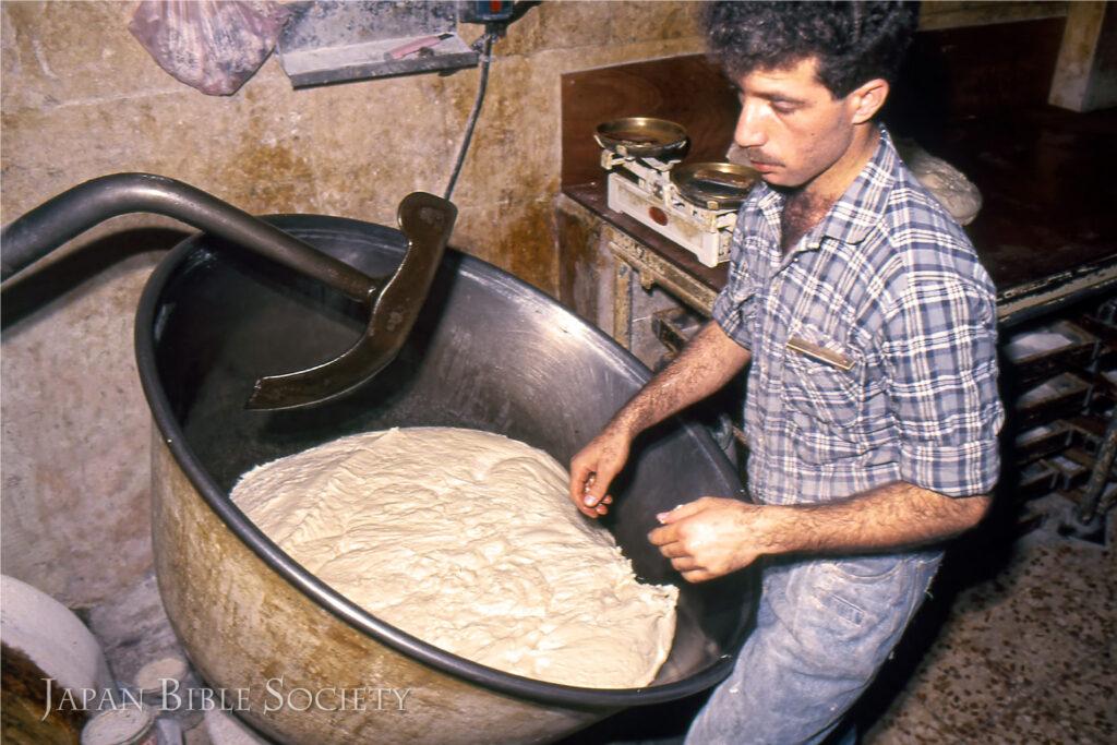 パン種-エルサレム旧市街のパン工房にて
