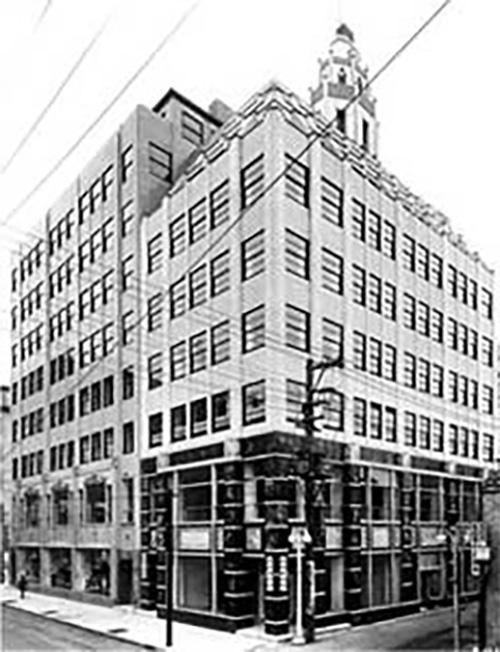 銀座に完成当時の聖書館 (1933年に開館、その後戦災も免れ現在にいたる)
